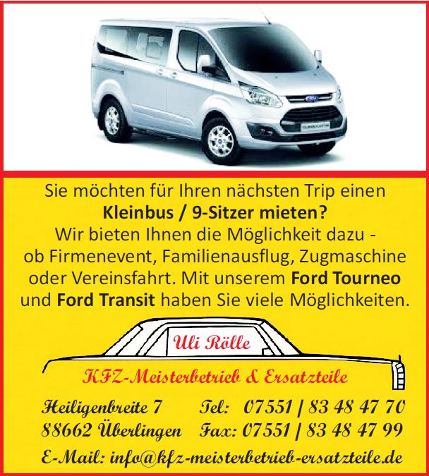 Kleinbus 9-Sitzer mieten
